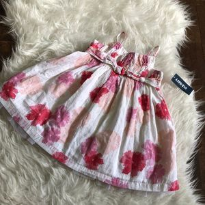 Old Navy 6-12 M Dress Pink Floral Diaper Cover NWT